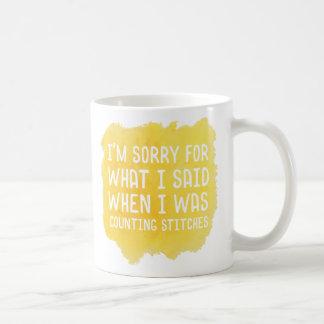 Funny Crochet Stitch Mug