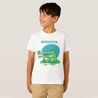 funny crocodile shown ok sign cartoon T-Shirt