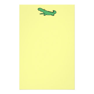 Funny crocodile stationery