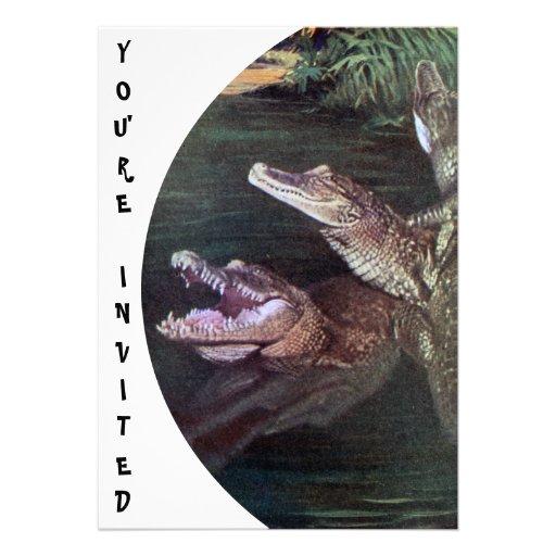 Funny Crocodiles Invitations