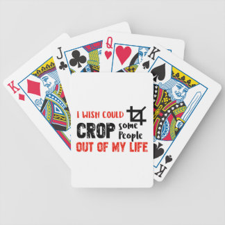 Funny crop people Geek designs Bicycle Playing Cards