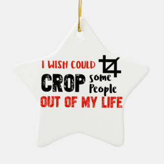 Funny crop people Geek designs Ceramic Star Decoration