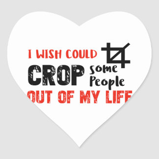 Funny crop people Geek designs Heart Sticker
