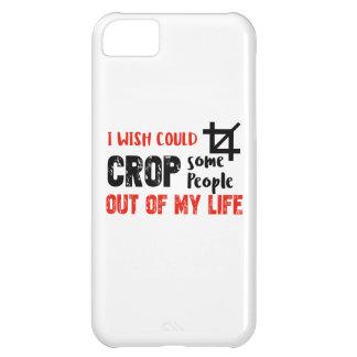Funny crop people Geek designs iPhone 5C Case