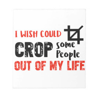 Funny crop people Geek designs Notepad