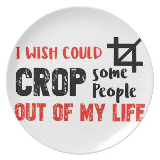 Funny crop people Geek designs Plate