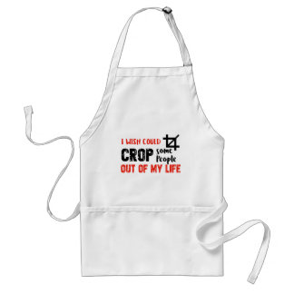 Funny crop people Geek designs Standard Apron