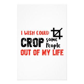Funny crop people Geek designs Stationery