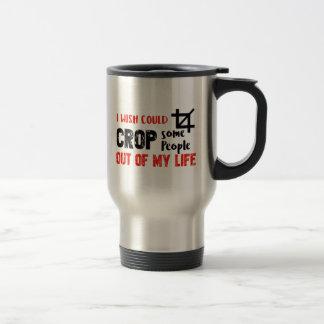Funny crop people Geek designs Travel Mug