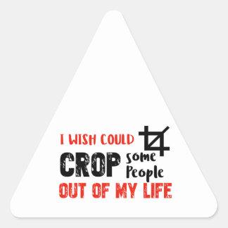 Funny crop people Geek designs Triangle Sticker
