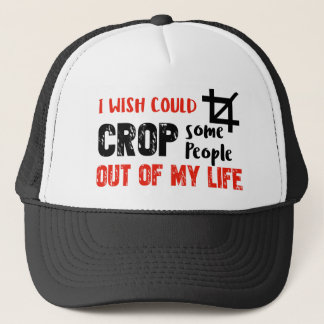 Funny crop people Geek designs Trucker Hat