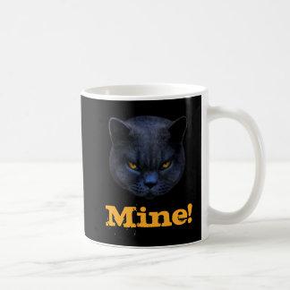 Funny Cross Cat says Mine! Mug