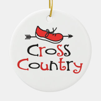 Funny Cross Country Runner Shoe with CC Arrow Round Ceramic Decoration
