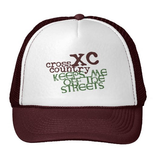 Funny Cross Country Running Mesh Hats