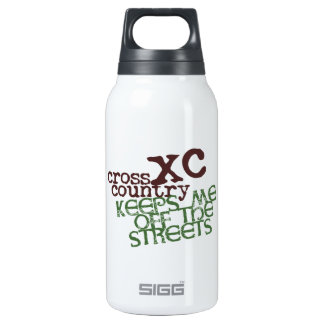 Funny Cross Country Running © Keeps me off Streets 0.3L Insulated SIGG Thermos Water Bottle