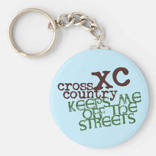 Funny Cross Country Running Keychain