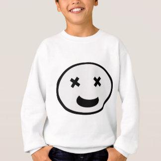 Funny cross eyed face sweatshirt