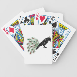 funny crow bicycle playing cards