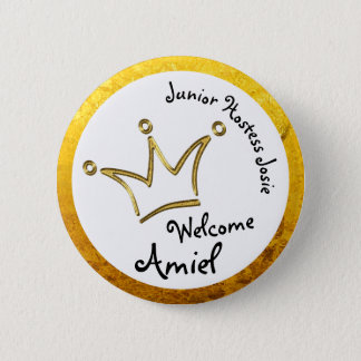 Funny Crown gold - private for Amiel 6 Cm Round Badge