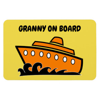Funny Cruise Cabin Door Magnet - Granny on Board