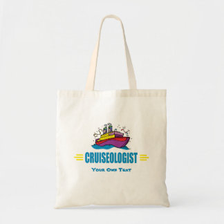 Funny Cruise Ship Caribbean Travel Fan Tote Bag