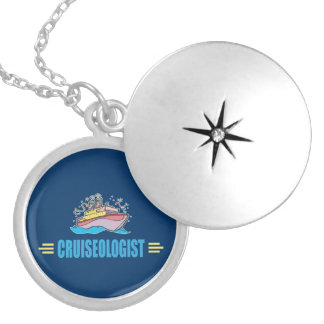 Funny Cruise Ship Silver Plated Necklace