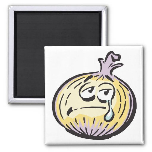 funny crying onion magnets
