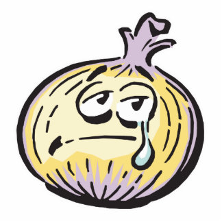funny crying onion acrylic cut out