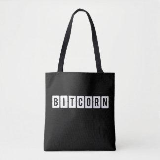 Funny Cryptocurrency Bitcorn Black Tote Bag