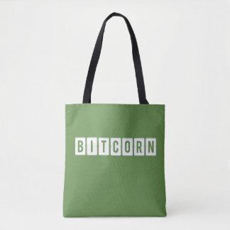 Funny Cryptocurrency Bitcorn Green Tote Bag
