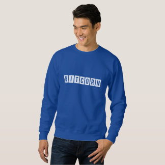 Funny Cryptocurrency Bitcorn Men's Sweatshirt