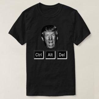 Funny CTRL ALT DEL Reboot Trump - Anti Trump T-Shirt