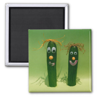 Funny Cucumbers Square Magnet