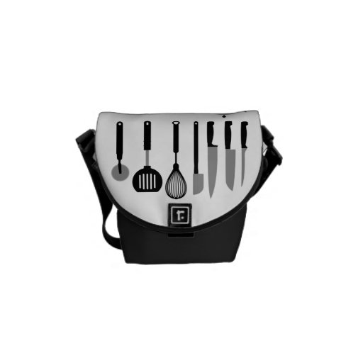 funny culinary messenger bags
