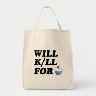 Funny Cupcake - Grocery Bag Grocery Tote Bag