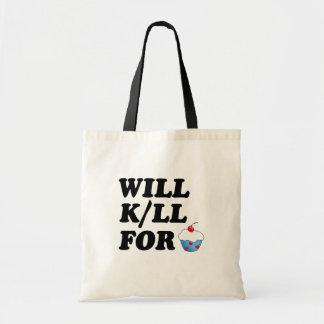 Funny Cupcake Tote Bag Budget Tote Bag