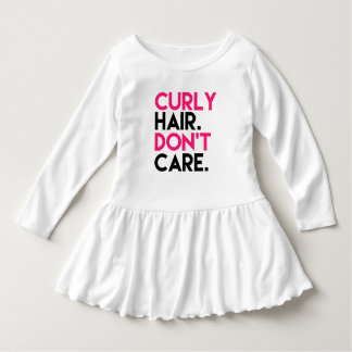 Funny Curly hair don't care girls shirt