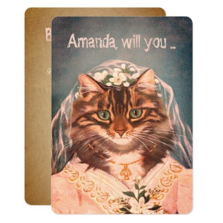 Funny custom be my bridesmaid/maid of honor card