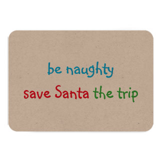 Funny Custom Christmas Holiday Card Santa Joke