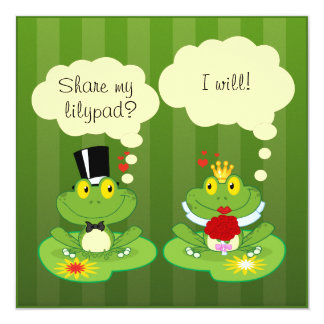 Funny Custom Frog Wedding Invitations
