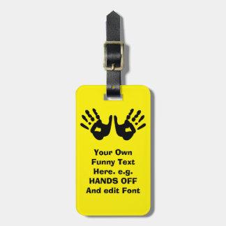 funny custom luggage tag