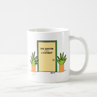 Funny Custom Optometrist Optical Office Cartoon Coffee Mug