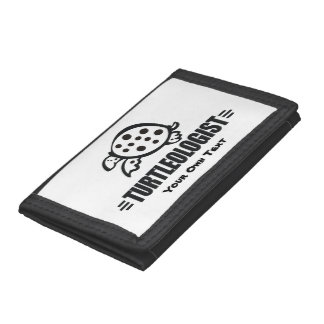 Funny Custom Turtle Trifold Wallet