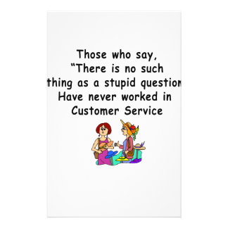 Funny Customer Service Saying Personalized Stationery
