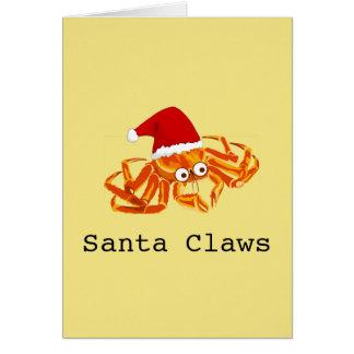 Funny Customisable 'Santa Claws' christmas Card