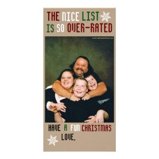 Funny Customizable Christmas Photo Greeting Card
