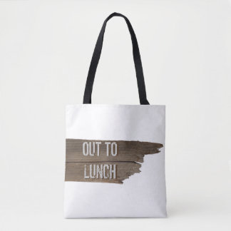 Funny Customizable Wooden Sign Lunch Tote Bag