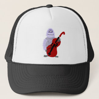 Funny Cute Abominable Snowman with Cello Trucker Hat