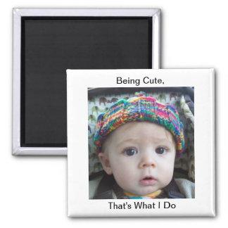 Funny Cute Baby Kid Creationarts Lisa R Adams Magnet