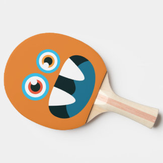 Funny Cute Blue Monster. Ping Pong Paddle